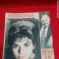 Cine: FOTOGRAMAS 21/12/1962 N? 734. Lote 216500353