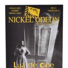 Cine: NICKEL ODEÓN. REVISTA TRIMESTRAL DE CINE, 31-LUZ DE CINE. MONOGRÁFICO DIRECCIÓN DE FOTOGRAFÍA. NUEVO. Lote 216518577