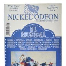 Cine: NICKEL ODEON. REVISTA TRIMESTRAL DE CINE, N.º 25. MONOGRÁFICO: EL MUSICAL. NUEVO. Lote 216518616