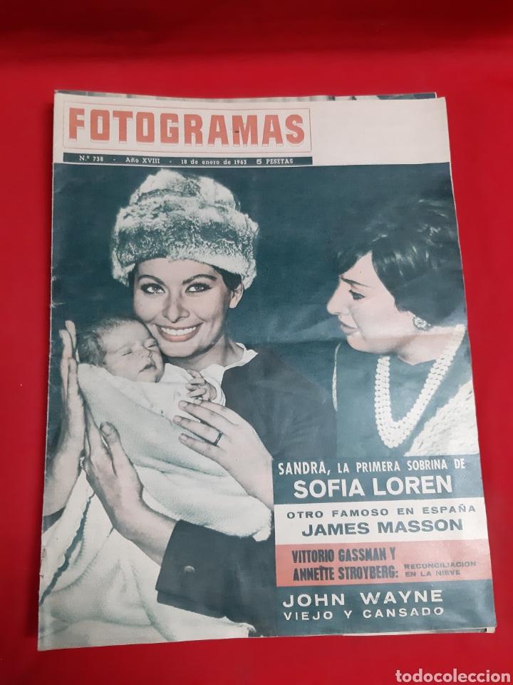 FOTOGRAMAS LOTE 4 REVISTAS AÑOS 1963 (Cine - Revistas - Fotogramas)