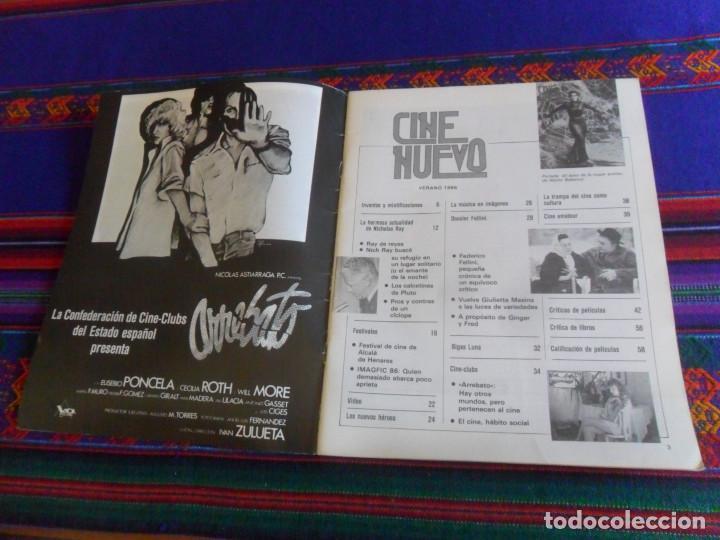 Cine: CINE NUEVO VERANO 1986. EL BESO DE LA MUJER ARAÑA NICHOLAS RAY, FELLINI, BIGAS LUNA ARREBATO. RARA. - Foto 2 - 216691707