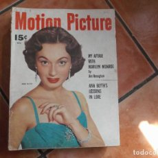 Cinema: MOTION PICTURE, VOL-44 Nº 535, FALTAN 4 PAGINAS,JOHN DEREK, ANN BLYTH. Lote 217329157