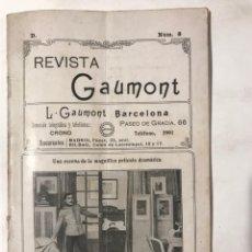 Cine: REVISTA GAUMONT NUM 8 1913 CINEMATOGRAFIA EN COLOR EL SAN GOTARDO. Lote 217438805