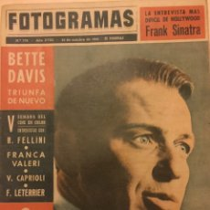 Cine: FOTOGRAMAS Nº 778 25 OCTUBRE 1963 FRANK SINATRA, BETTE DAVIS, FELLINI, FRANCE PISIER. Lote 217528928