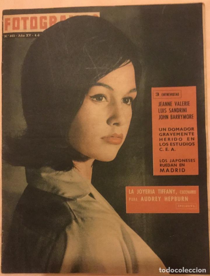 FOTOGRAMAS Nº 623 4 DICIEMBRE 1960 JEANNE VALERIE, AUDREY HEPBURN, BARRYMORE, TIFFANY (Cine - Revistas - Fotogramas)