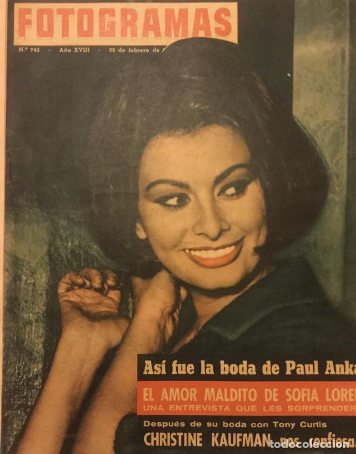 FOTOGRAMAS Nº 743 FEBRERO 1963 SOFIA LOREN PAUL ANKA (Cine - Revistas - Fotogramas)