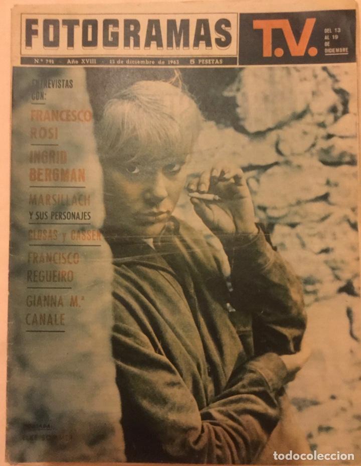 FOTOGRAMAS Nº 791 13 DICIEMBRE 1963 ELKE SOMMER INGRID BERGMAN (Cine - Revistas - Fotogramas)