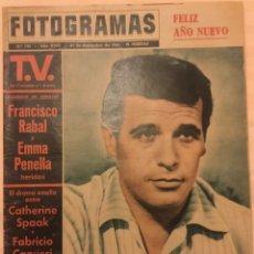 Cine: FOTOGRAMAS Nº 793 DICIEMBRE 1963 FRANCISCO PACO RABAL GIANNA MARIA CANALE B.B. TONY PERKINS. Lote 217531801