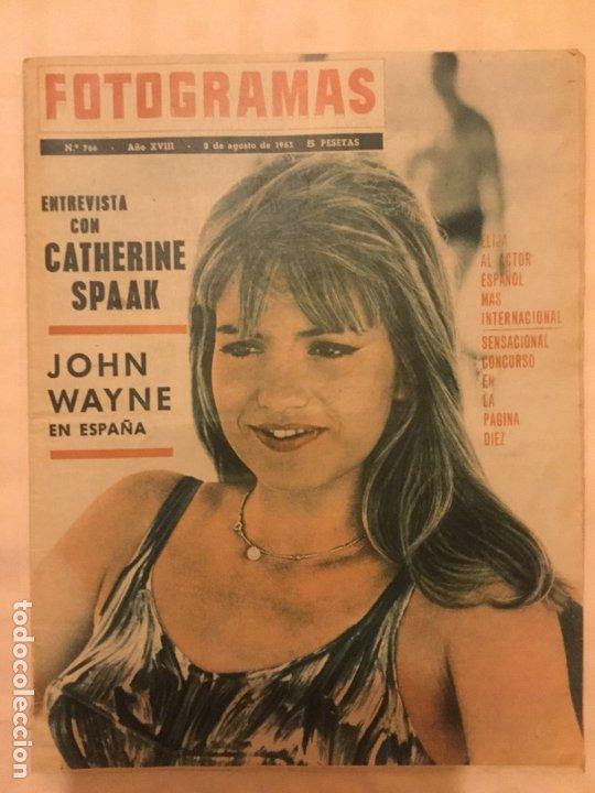 FOTOGRAMAS Nº 766 AGOSTO 1963 JOHN WAYNE CATHERINE SPAAK (Cine - Revistas - Fotogramas)