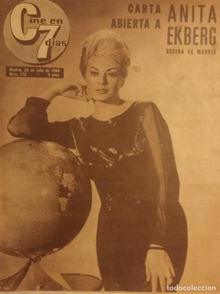 CINE EN 7 DIAS Nº 172 JULIO 1964 ANITA EKBERG (Cine - Revistas - Cine en 7 dias)