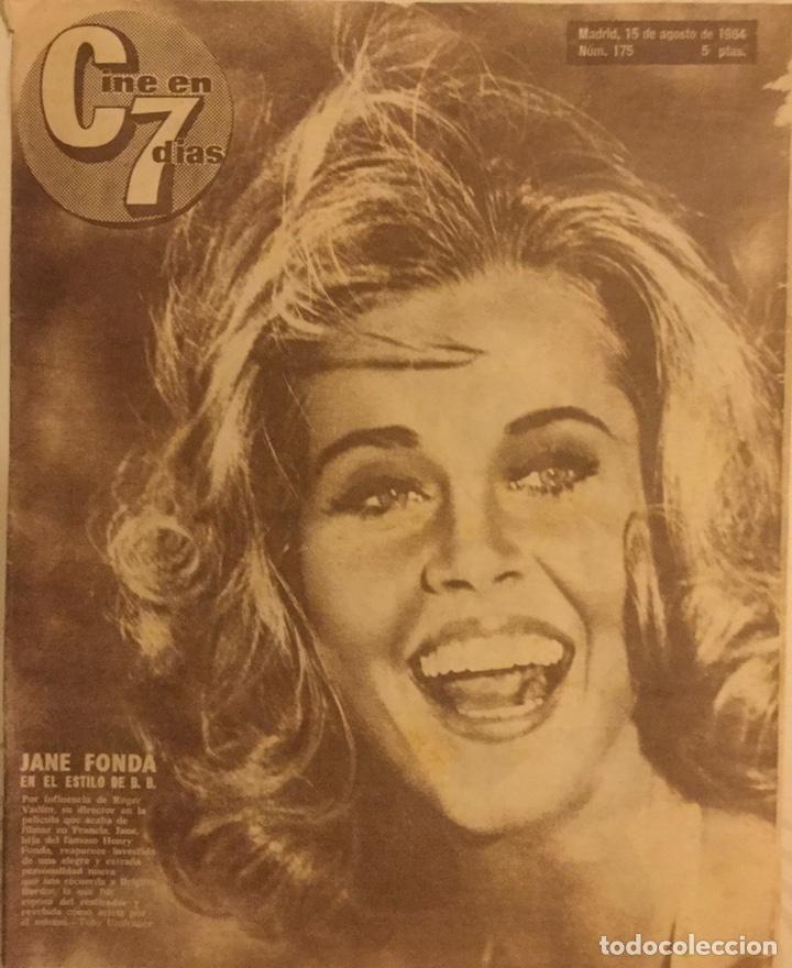 CINE EN 7 DIAS Nº 175 AGOSTO 1964 JANE FONDA (Cine - Revistas - Cine en 7 dias)