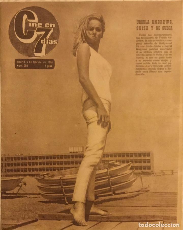 CINE EN 7 DIAS Nº 200 FEBRERO 1965 URSULA ANDREWS (Cine - Revistas - Cine en 7 dias)