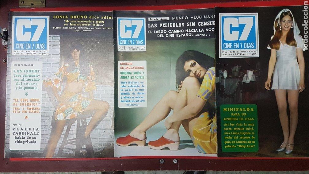 Cine: Lote revistas cine en 7 días C7 - Foto 2 - 218084081