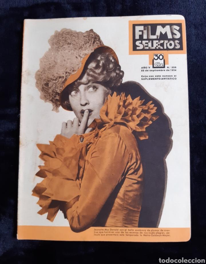 REVISTA FILMS SELECTOS CON PORTADA DE LA ACTRIZ JEANNETTE MAC DONALD DE 1934. (Cine - Revistas - Films selectos)