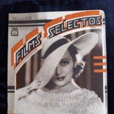 Cine: REVISTA FLIMS SELECTOS CON PORTADA DE LA ACTRIZ FRANCÉS DRAKE DE 1934.. Lote 218233750