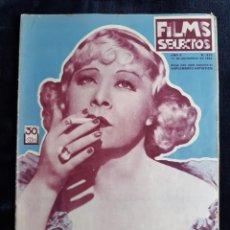 Cine: REVISTA FLIMS SELECTOS CON LA PORTADA DE MAE WEST DE 1934 .. Lote 218234461