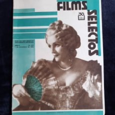 Cine: REVISTA FLIMS SELECTOS CON PORTADA DE JANE CORNELL DE 1934.. Lote 218235201