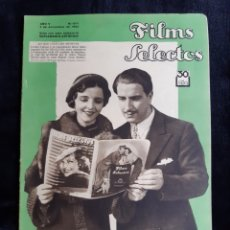 Cine: REVISTA FLIMS SELECTOS CON PORTADA DE ENRICO CARUSO Y MONA MARIS DE 1934.. Lote 218235815