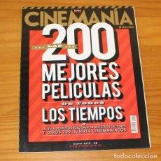Cine: CINEMANIA ESPECIAL 200 MAYO 2012 LAS MEJORES PELICULAS DE TODOS LOS TIEMPOS. Lote 218260937