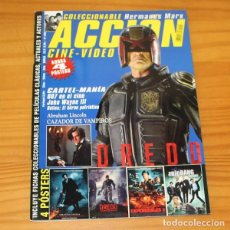 Cine: ACCION CINE-VIDEO 1209 JUEZ DREDD, HERMANOS MARX, TADEO JONES, 007... INCLUYE POSTERS. Lote 218260976