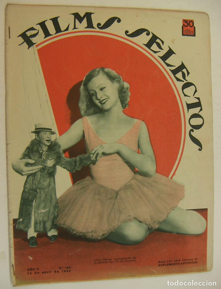 REVISTA FILMS SELECTOS. AÑO V. Nº 183. 14 DE ABRIL DE 1934 (Cine - Revistas - Films selectos)
