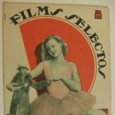 Cine: REVISTA FILMS SELECTOS. AÑO V. Nº 183. 14 DE ABRIL DE 1934. Lote 218364377