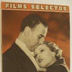 Cine: REVISTA FILMS SELECTOS. AÑO IV. Nº 140. 17 DE JUNIO DE 1933. Lote 218364742