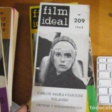 Cine: REVISTA DE CINE. REVISTA FILM IDEAL Nº 209. 1969 CARLOS SAURA, POLANSKI, PASSOLINI. Lote 218473675