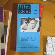 Cine: FILM IDEAL Nº 211. VALLADOLID-69. BUÑUEK. PIALAT. DOCUMENTACIÓN. ESQUEMA. CRITICAS (1969). Lote 218473888
