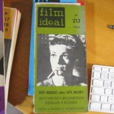 Cine: REVISTA DE CINE. REVISTA FILM IDEAL Nº 213. 1969 ANTONIONI RICHARDSON RESNAIS ROSSEN 7 MIRADAS .... Lote 218474201