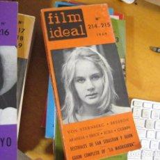 Cine: FILM IDEAL 214-215 AÑO 1969, VON STERNBERG/BRESSON/ARANDA/ERICE/EGEA/GUERIN. Lote 218474288