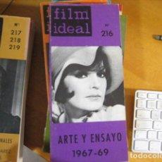 Cine: REVISTA FILM IDEAL. Nº 216. ARTE Y ENSAYO 1967 - 69. 219 PP. ILUSTRADA.. Lote 218474417