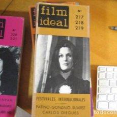 Cine: FILM IDEAL Nº 217-218-219. FESTIVALES INTERNACIONALES. PATINO. GONZALO SUAREZ. CARLOS DIEGUES.. Lote 218474551