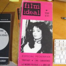 Cine: FILM IDEAL NUMERO 220-221 (1970) ESPECIAL SAM PECKINPAH. PORTADA: BARBARA STEELE. Lote 218474717