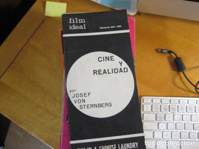 FILM IDEAL Nº 224-225. CINE Y REALIDAD POR JOSEF VON STERNBERG. FUN IN A CHINESE LAUNDRY (Cine - Revistas - Film Ideal)