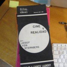 Cine: FILM IDEAL Nº 224-225. CINE Y REALIDAD POR JOSEF VON STERNBERG. FUN IN A CHINESE LAUNDRY. Lote 218474807