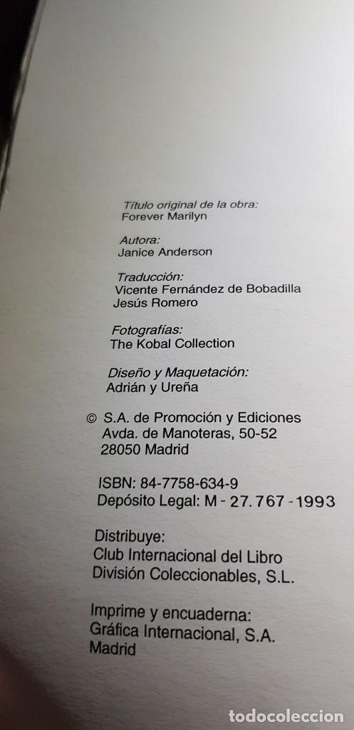 Cine: SIEMPRE MARILYN 1993 CLUB INTERNACIONAL DEL LIBRO JANICE ANDERSON(TRADUCIDA POR JESÚS ROMERO) - Foto 7 - 218534748