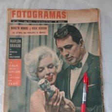 Cine: FOTOGRAMAS Nº 694 PORTADA MARILYN MONROE Y ROCK HUDSON - MARLON BRANDO VESPA B BARDOT - MARZO 1962. Lote 218634036
