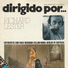 Cine: DIRIGIDO POR-N°35,JULIO-AGOSTO 1976,RICHARD LESTER, FELLINI. Lote 219320896