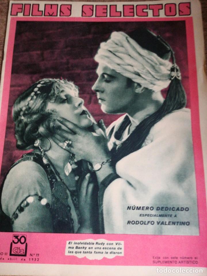 FIMS SELECTOS N.77 (Cine - Revistas - Films selectos)