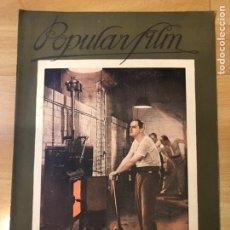 Cine: REVISTA POPULAR FILM 1927 METROPOLIS FRITZ LANG.GLORIA SWANSON.BEBE DANIELS. Lote 219558225