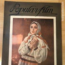 Cine: REVISTA POPULAR FILM JUN 1927 DOLORES DEL RÍO.METROPOLIS FRITZ LANG.IRIS STUART.ROD LA RODQUE. Lote 219558431