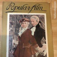 Cine: REVISTA POPULAR FILM ENE 1927 CLARA BOW.CONCHITA PIQUER.GINA MANES NAPOLEON ABEL GANCE.GOESTA ECKMAN. Lote 219560618
