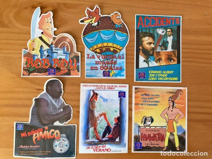 6 PEGATINAS CINE ANTIGUAS NUNCA PEGADAS (Cine - Revistas - Papeles de cine)