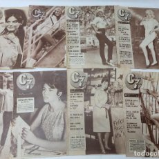 Cine: LOTE DE 8 REVISTAS CINE EN 7 DIAS AÑOS 60.VER FOTOS. Lote 219591086