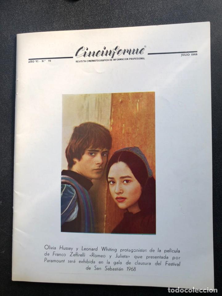 Cine: LOTE DE 3 ANTIGUAS REVISTAS DE INFORMACIÓN Y TECNICA DEL CINE - Foto 8 - 219661228