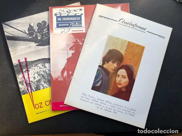 Cine: LOTE DE 3 ANTIGUAS REVISTAS DE INFORMACIÓN Y TECNICA DEL CINE - Foto 22 - 219661228