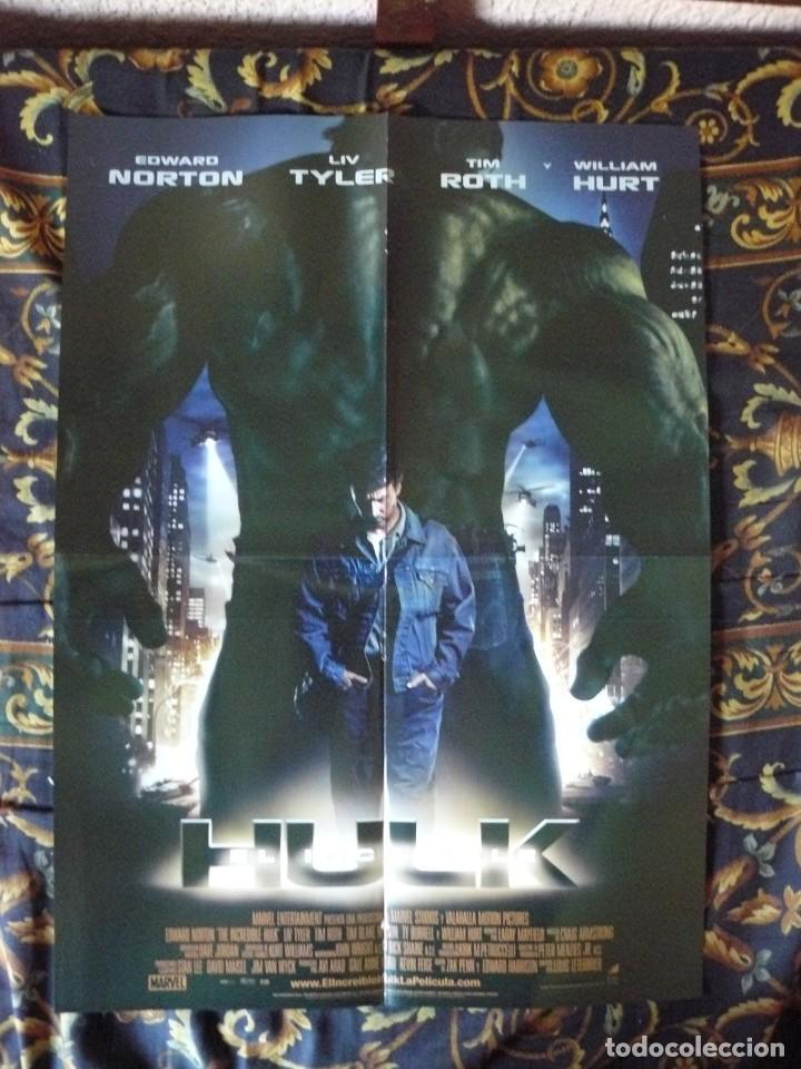 CARTEL DOBLE 40X60 APROX DE LAS PELICULAS: THE HAPPENING Y HULK (Cine - Reproducciones de carteles, folletos...)