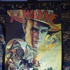Cinema: CARTEL DOBLE 40X60 APROX DE LAS PELICULAS: THE OREGON TRAIL Y JOHN WAYNE. Lote 219689578