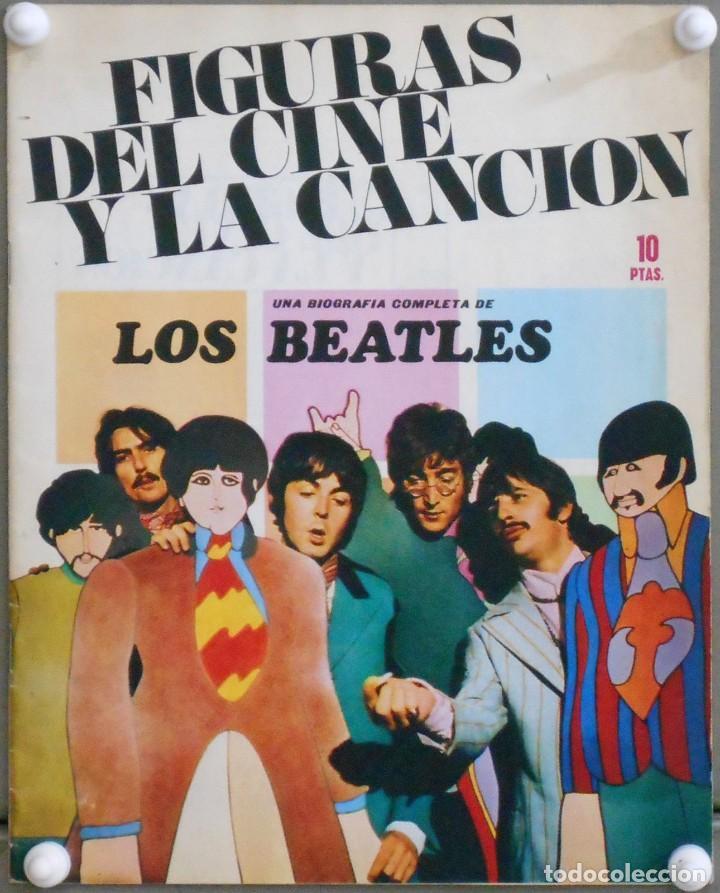 G6179D LOS / THE BEATLES REVISTA FIGURAS DEL CINE Y LA CANCION BIOGRAFIA COMPLETA (Cine - Revistas - Otros)